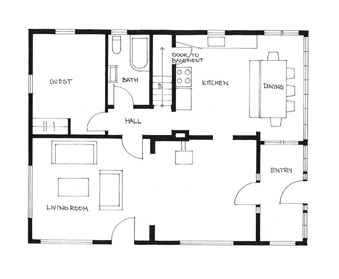 floor plan design by rethink design architecture